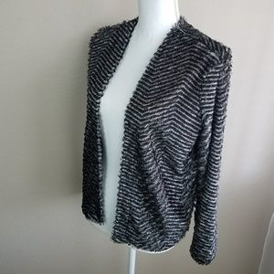 Divided H&M Fuzzy Stripe Cardigan Jacket Sweater S